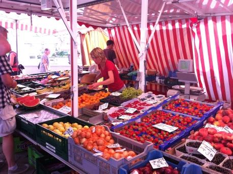 En el mercado de Biberach